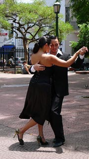dancing the tango in Argentina